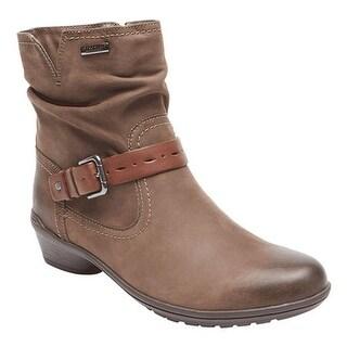 Rockport Women's Cobb Hill Riley Waterproof Boot Stone Waterproof Leather