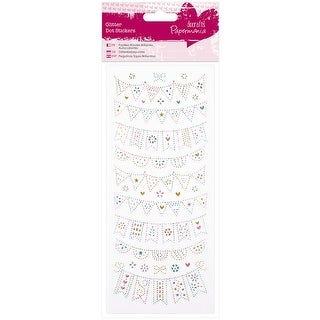 Papermania Glitter Dot Stickers-Bunting