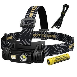NITECORE HC65 1000 Lumen White/High CRI/Red Output Rechargeable Headlamp