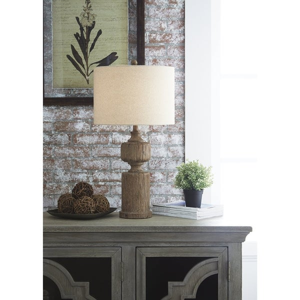 """Madelief 29 Inch Poly Table Lamp - 28.75"""" H. Opens flyout."""