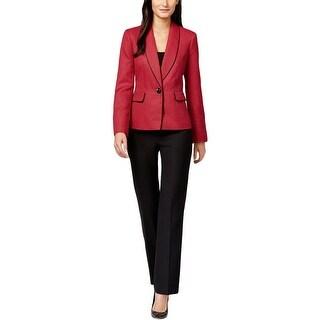 Le Suit Womens Cannes Pant Suit 2PC One Button