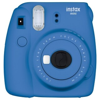 Fuji Film 16550667 Instax Mini 9 Instant Film Camera, Cobalt Blue