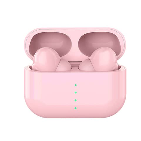 Wireless Sport Pro EarBuds and Microphone w/ Magnetic Charging Case and Noise Cancelling Ear Tips, Pink