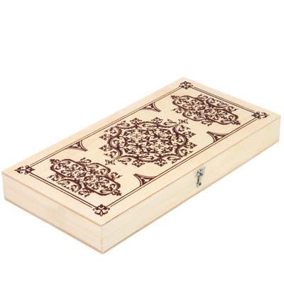 STP Goods Wood Backgammon Travel Set