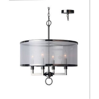 Woodbridge Lighting 15514 4 Light 1 Tier Candle Style Drum Chandelier from the Jamison Collection