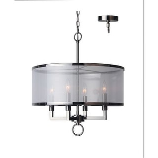 Woodbridge Lighting 15514 4 Light 1 Tier Candle Style Drum Chandelier from the J