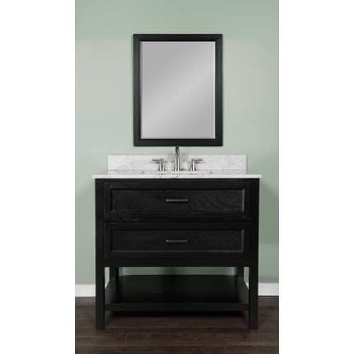 "Miseno MV102936 Rimini 36"" Free Standing Vanity Cabinet with Wood Cabinet, Natur"