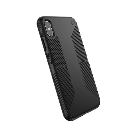 Speck Presidio Grip Designed for Impact Case for iPhone Xs Max - Black/Black - Black