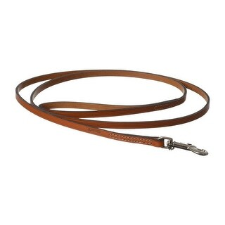 "Circle T Leather Lead - Oak Tanned 6' Long x 3/8"" Wide"