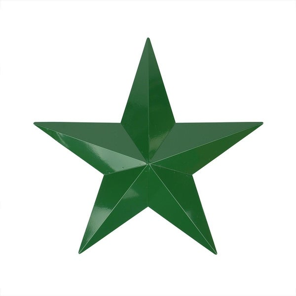 "24"" Hunter Green Country Rustic Star Indoor/Outdoor Wall Decoration"