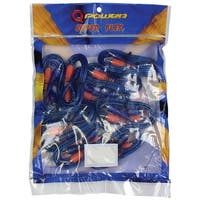 Qpower (10 Pack) 3 Ft. RCA Superflex