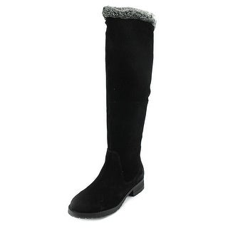 Steven Steve Madden Chille Women  Round Toe Synthetic Black Knee High Boot
