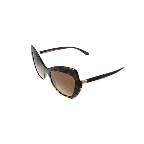 Dolce & Gabbana DG 4361 502/13 52mm Womens Havana Frame Brown Gradient Lens Sunglasses