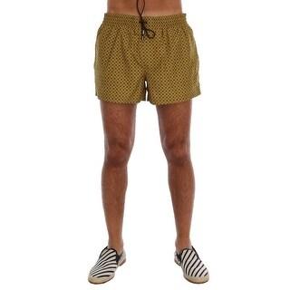 Dolce & Gabbana Dolce & Gabbana Yellow Print Beachwear Shorts - M