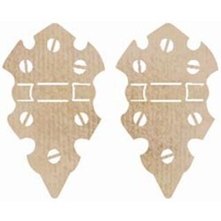 Medium Hinges - Wood Flourishes 2/Pkg