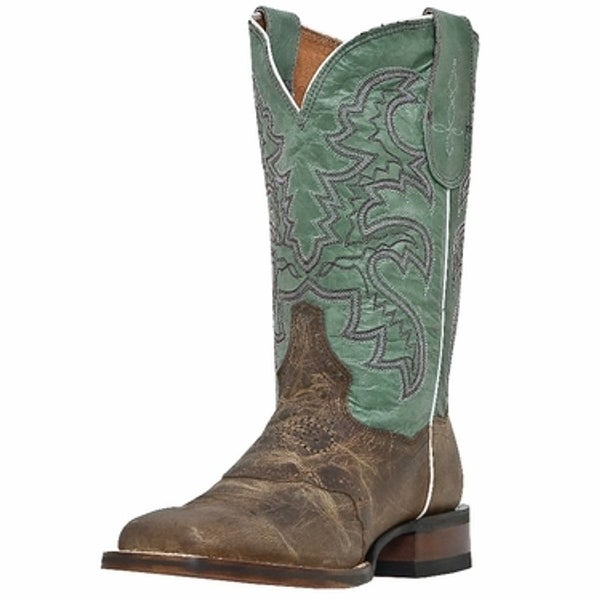 Dan Post Western Boots Womens San Michelle Dark Tan Blue