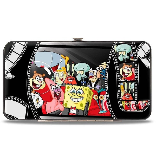 SpongeBob Group On Red Carpet Film Strip Hinged Wallet - One Size Fits most