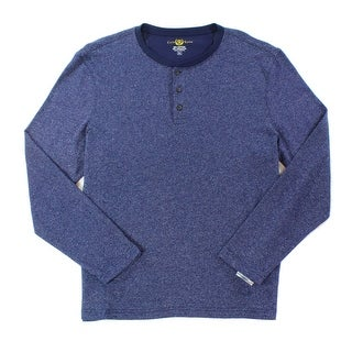 Club Room NEW Navy Blue Mens Size Small S Long Sleeve Henley Shirt