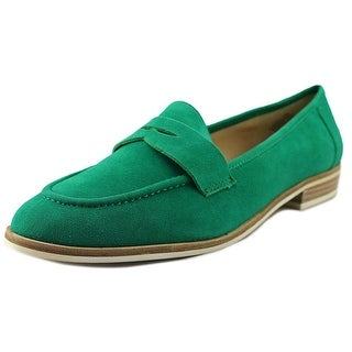 Nine West Antonecia Women Round Toe Leather Green Loafer