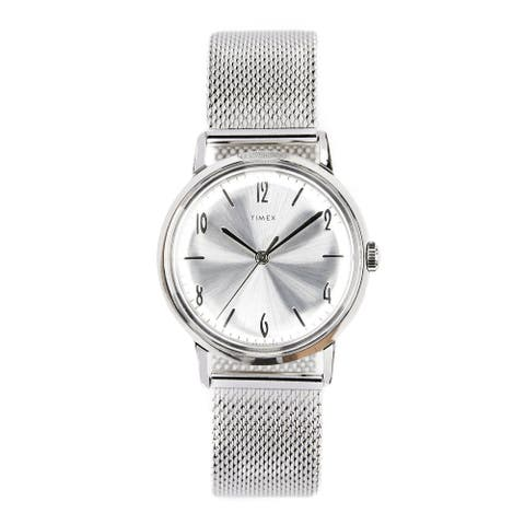 Timex Women's TW2T18500ZV 'Marlin' Stainless Steel Watch - Silver