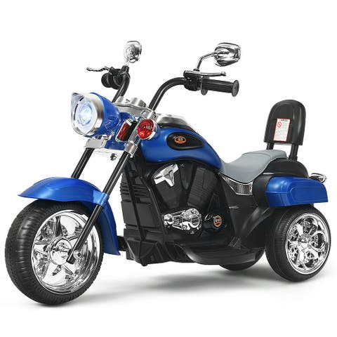 Gymax 6V Kids Ride On Chopper Motorcycle 3 Wheel Trike with Headlight - See Details