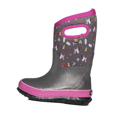 Bogs Outdoor Boots Girls Classic Pegasus Waterproof Pull On