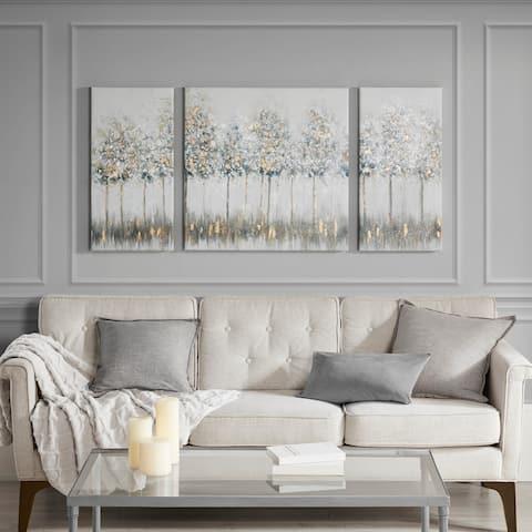 Madison Park Blue Midst Forest 3-piece Printed Canvas Set