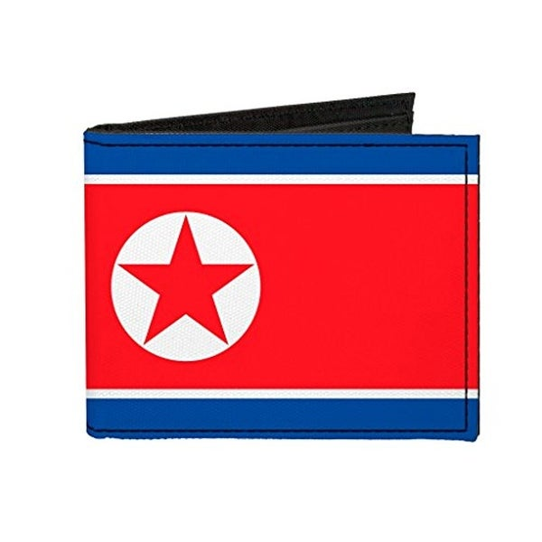Buckle-Down Canvas Bi-fold Wallet - Democratic People's Republic Of Kore Accessory