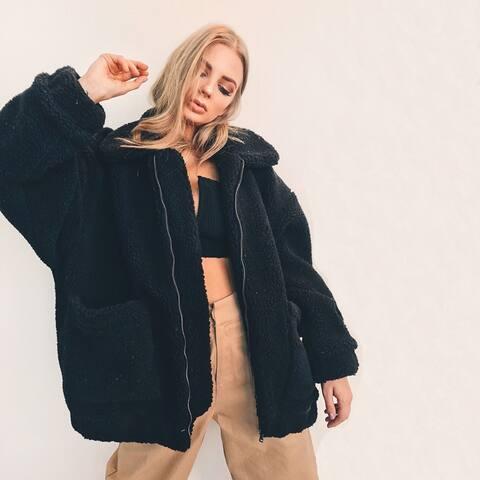 Women's Fur Vintage Warm Fluffy Faux Fur Coat Jacket Outwear