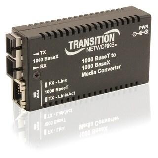 """Transition Networks M/GE-T-SX-01-NA Transition Networks Mini Gigabit Ethernet Media Converter - 1 x Network (RJ-45) - 1 x SC"