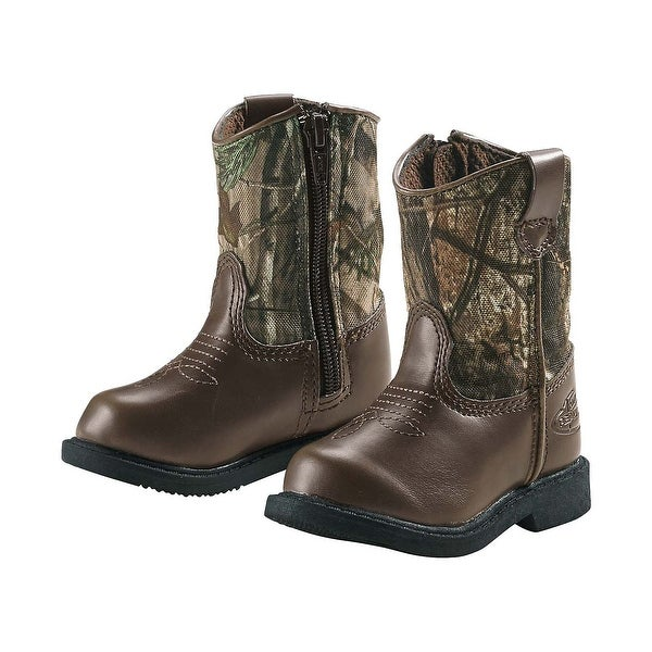 Legendary Whitetails Infant & Toddler Camo Lil Dustin Cowboy Boots - Dark Brown