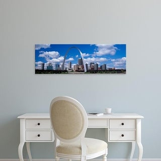 Easy Art Prints Panoramic Image 'Metal arch in front of buildings, Gateway Arch, St. Louis, Missouri, USA' Canvas Art