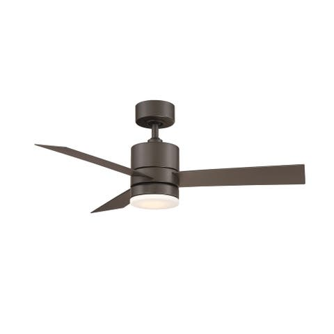 Axis 44 Inch Three Blade Indoor / Outdoor Smart Ceiling Fan with Six Speed DC Motor and LED Light.