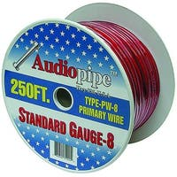 Audiopipe 250' 8 Gauge Red Power Wire
