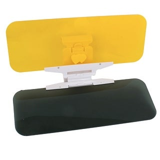 Unique Bargains Car Sun Visor Clip Sunshade Goggles Day Nght Anti-Dazzle Mirror Yellow Black