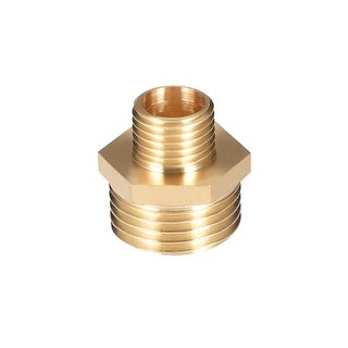 "Brass Pipe Fitting Reducing Hex Nipple 1/4""x 1/2"" G Male Pipe Brass Fitting - 1/4"" to 1/2"" G Male"