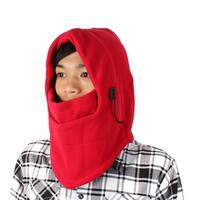 Red Cycling Motorcycle Elastic Snowboard Wind Stopper Face Ski Mask for Lady Men