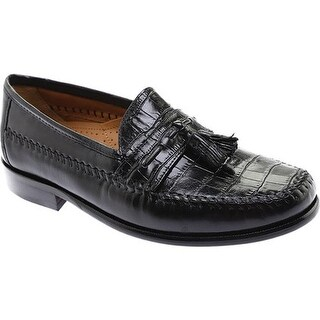 Florsheim Men's Pisa Black Nappa/Croco Print Leather