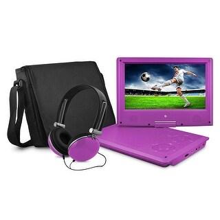 Ematic EPD909PR Ematic EPD909 Portable DVD Player - 9 Display - 640 x 234 - Purple - DVD-R, CD-R - JPEG - DVD Video, Video