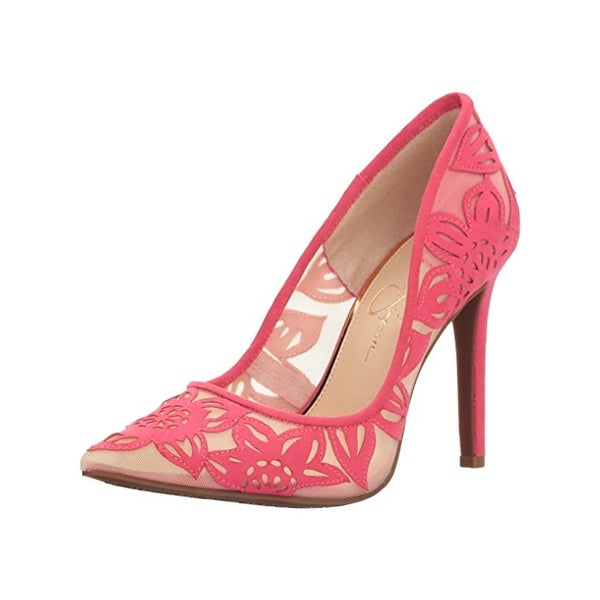 Jessica Simpson Womens Charese Stilettos Pointed Toe Pumps