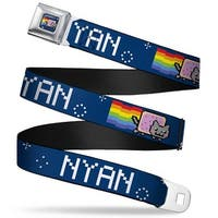Nyan Cat Blue Full Color Nyan W Nyan Cat Blue White Webbing Seatbelt Belt Seatbelt Belt
