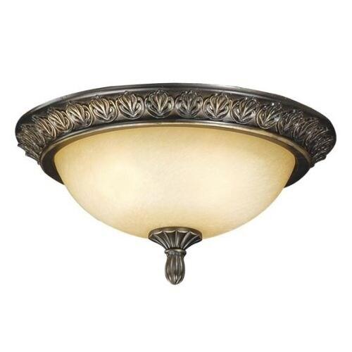 "Vaxcel Lighting LK48614 Fan Light Kit 13.5"" 2-Light Ceiling Fan Light Kit with C"