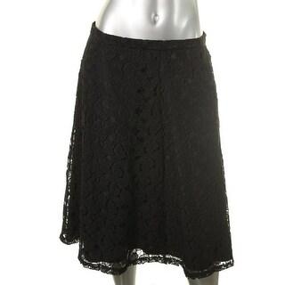 Calvin Klein Womens Lace Midi A-Line Skirt - 12