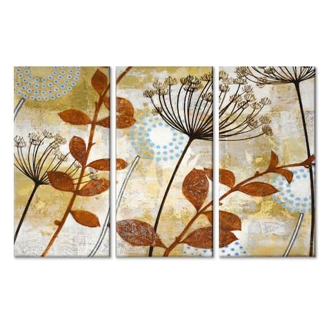 'Meadow Melody IV/V/VI' 3 Pc Wrapped Canvas Wall Art Set by Norman Wyatt Jr.