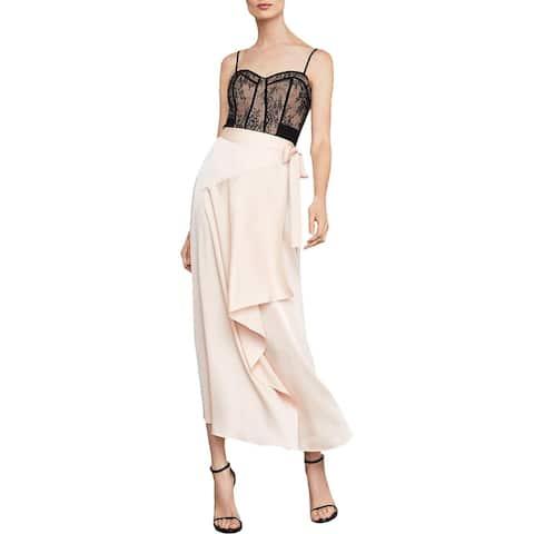 BCBG Max Azria Womens Wrap Skirt Asymmetric High-Waist