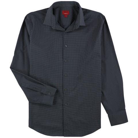 Alfani Mens Pindot Button Up Dress Shirt