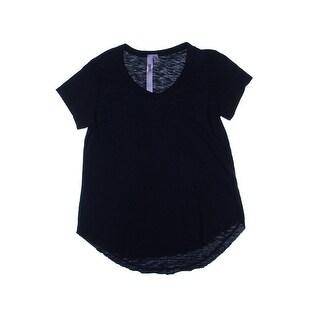 Wilt Womens Juniors Cotton V-Neck Pullover Top - L