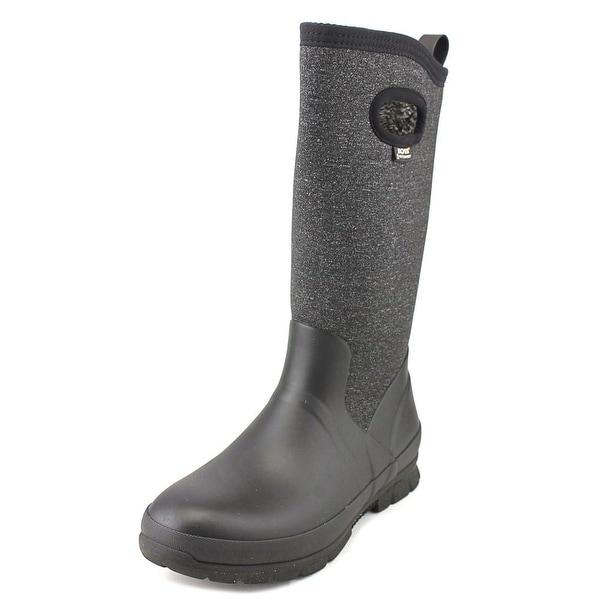 Bogs Crandall Tall Women Round Toe Canvas Black Winter Boot