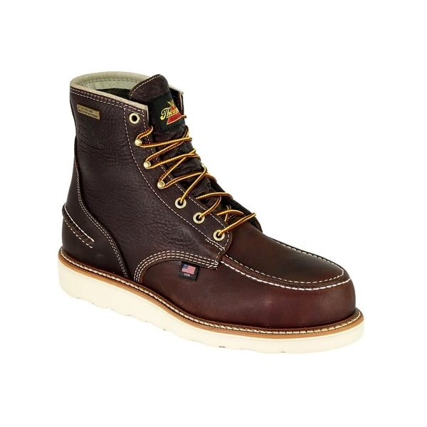 Thorogood Work Boots Mens Steel Pitstop Moc Safety EH Brown
