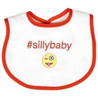 Raindrops Unisex Baby #Sillybaby Hashtag Bib, Orange - One size